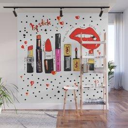 Lipstick Love Wall Mural