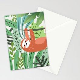 Jungle Sloth Stationery Cards