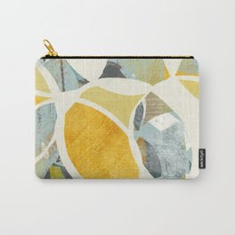 modern mid century, Graphic art, neutral colors, geometric art, circles, modern painting, abstract p Carry-All Pouch