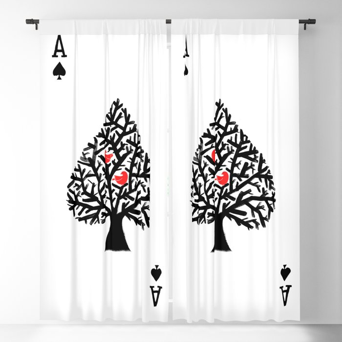 Ace of spade Blackout Curtain