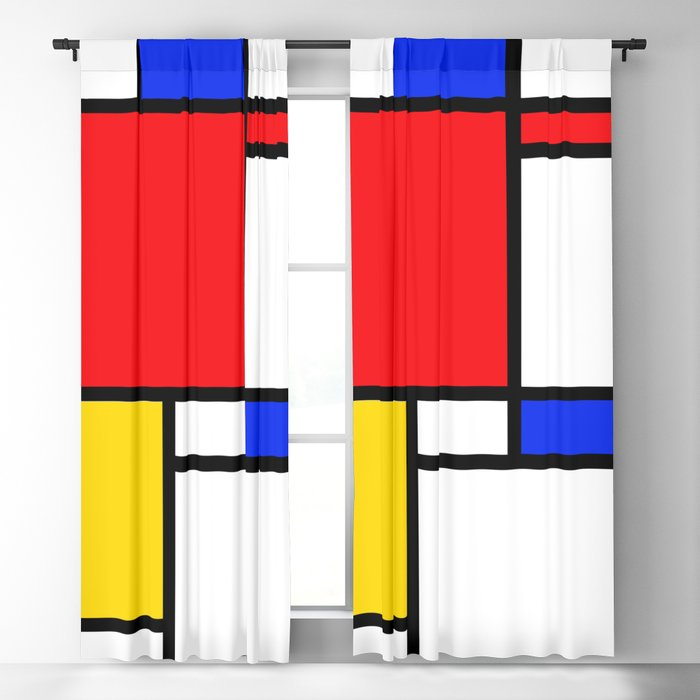 Mondrian Blackout Curtain