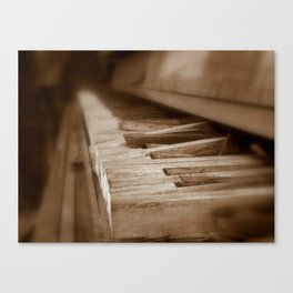 When the Music's Over Canvas Print