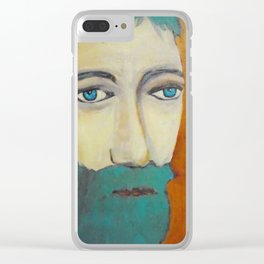 Hippy Roger by Machale O'Neill Clear iPhone Case