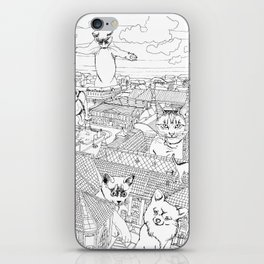Giant cats and dogs take over the city iPhone Skin