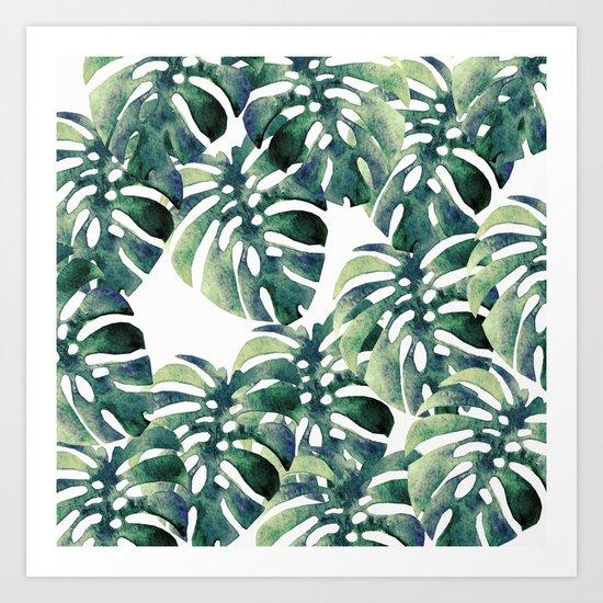 Monstera Pattern Art Print