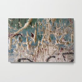 Scratched Surface Metal Print
