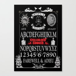 Sinful Pirate Ouija Board Canvas Print