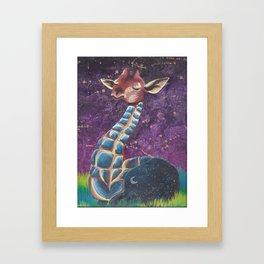 stelar giraffe Framed Art Print