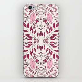 Floral Mix – Pink iPhone Skin