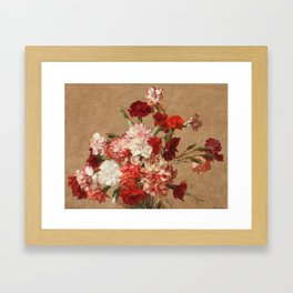 Henri Fantin Latour Carnations Without Vase Framed Art Print