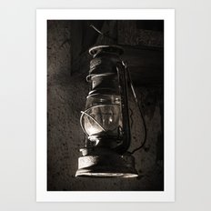 The old Oil lamp Art Print