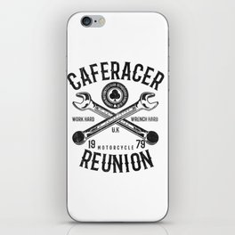 Cafe Racer Reunion Vintage Tools Poster iPhone Skin
