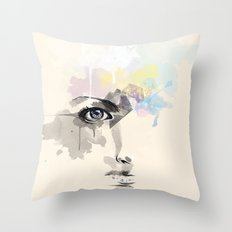 Beyond Her Tears  Throw Pillow