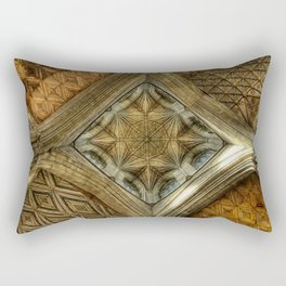 Peterborough Cathedral Roof Rectangular Pillow