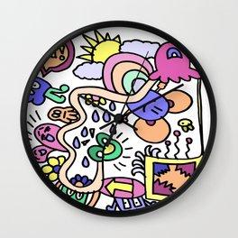 Doodle away Wall Clock