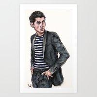 alex turner Art Prints featuring Alex Turner  by vooce & kat