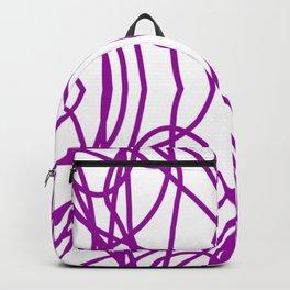 Purple Scribble Backpack