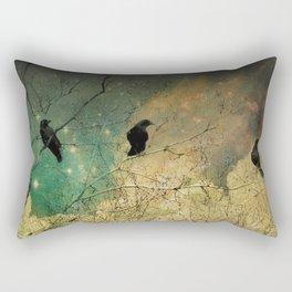 Retro Clouds Rectangular Pillow