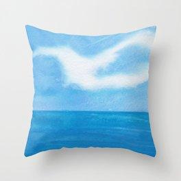 White Dove Sky Throw Pillow