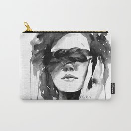 Watercolour Fashion Illustration Girl with the Plait in Her Hair Carry-All Pouch