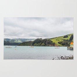 Daly's Pier, Akaroa, New Zealand Rug
