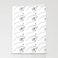 cigarette Stationery Cards featuring Cigarette Smoker by Katie Rosealea