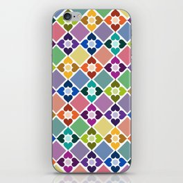 Colorful Floral Pattern II iPhone Skin