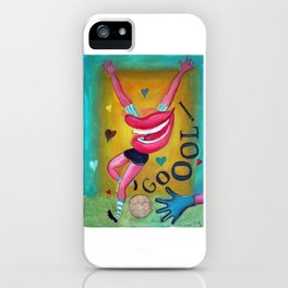 Gol y corazones 2 iPhone Case