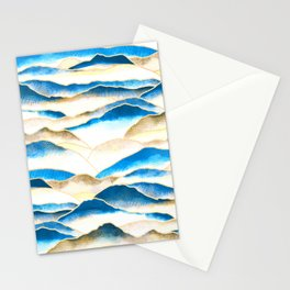 Textured Mountains  Stationery Cards