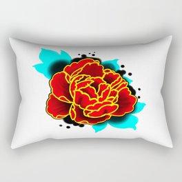 Red Peony  Rectangular Pillow