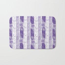 Lilac watercolor paint brushstrokes confetti stripes Bath Mat