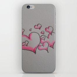 Heart Sketch iPhone Skin