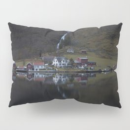 River that vanishes (Fjord) Pillow Sham