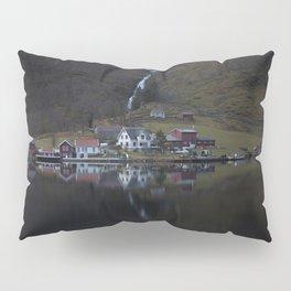 River that vanishes (Fjord) Pillow Sham