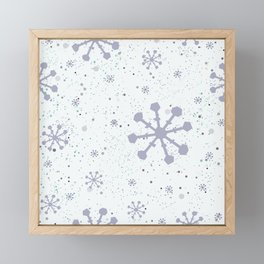 Seamless Winter Snowy Background Framed Mini Art Print