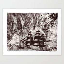 Rough Seas Ahead Art Print