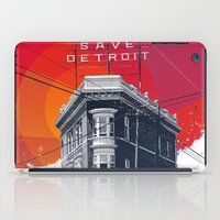detroit iPad Cases featuring Save Detroit by The Mighty Mitten - Great Lakes Art