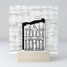 El Khazneh Petra Temple Mini Art Print
