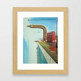 Crooked Politics (print) Framed Art Print