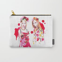 D&G Red Florals Carry-All Pouch