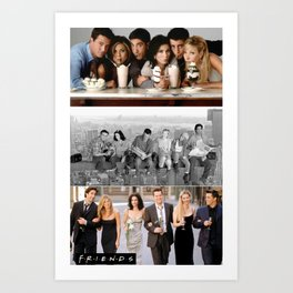 Friends collage Art Print