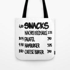 SNACKS - White Tote Bag