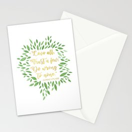 Love All, Trust Few, Shakespeare Stationery Cards