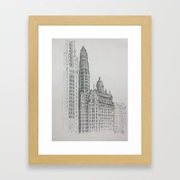 Chicago - Mather and London Guarantee Framed Art Print