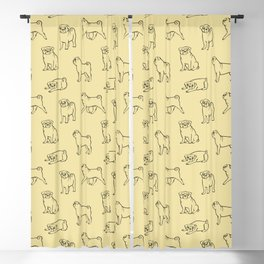 Pug Pattern Blackout Curtain