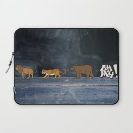 Lions and tigers and bears! Laptop Sleeve