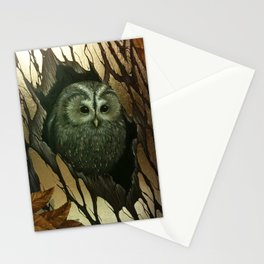 Silver Owl Stationery Cards