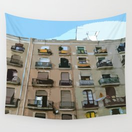 Barcelona Building  Wall Tapestry