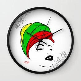 Lady Wrap Wall Clock