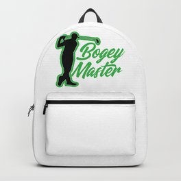 Golfer Bogey Master Golf Lover Backpack